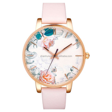 New flower printing surface japan quartz movement watches for girl women watches