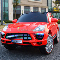 Newest double seat luminiscent wheel electric kids car/ride on toy car