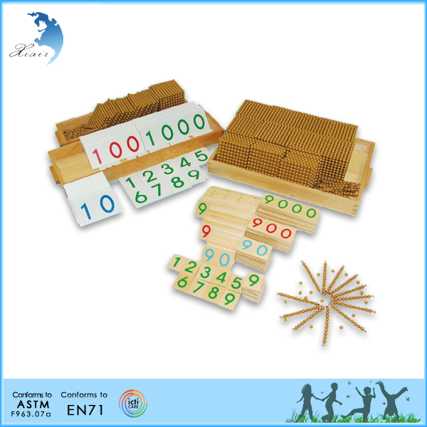 Montessori material toy golden bead bank game