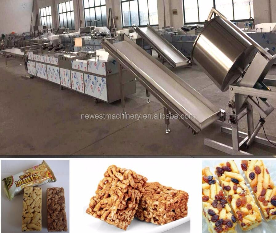 Cheap price automatic chocolate rectangular cereal bar making machine