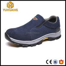 new style no lace genuine Leather Upper Material Safety Shoes