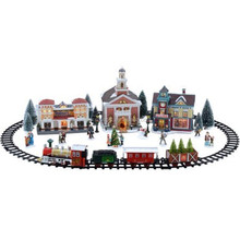 customized handmade color painted miniature christmas village