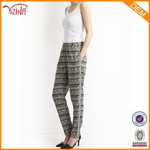 New Style Fashion Narrow Cutting Of Lady Printed Trousers
