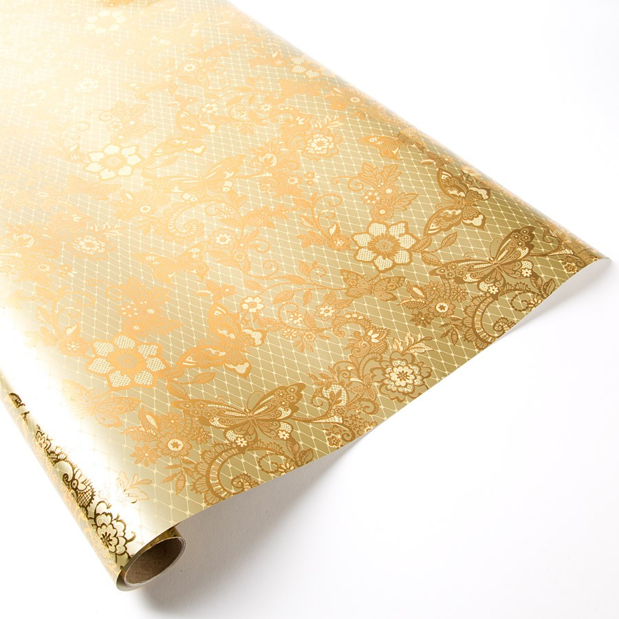Fashion full gold color printing paper for wrapping