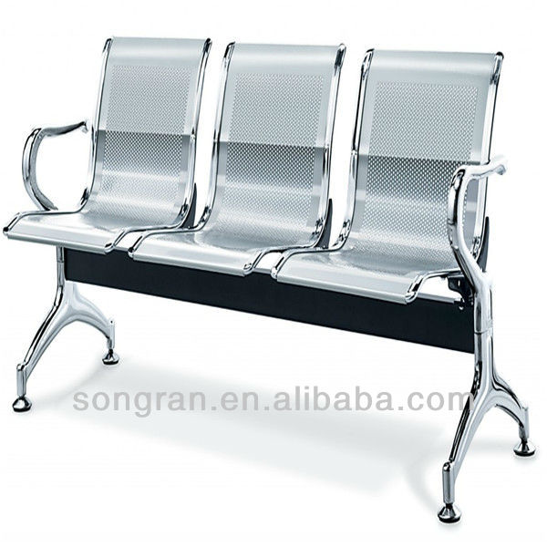 Hot sell cheap metal waiting used hospital chair SR056
