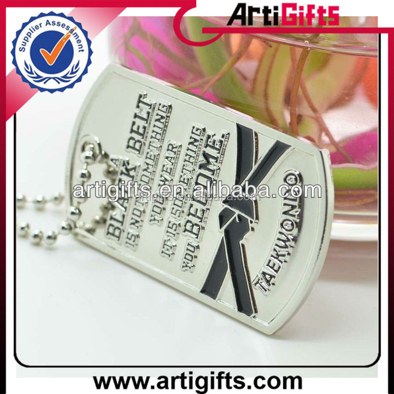 Custom design sublimation enamel color metal militaery dog tag