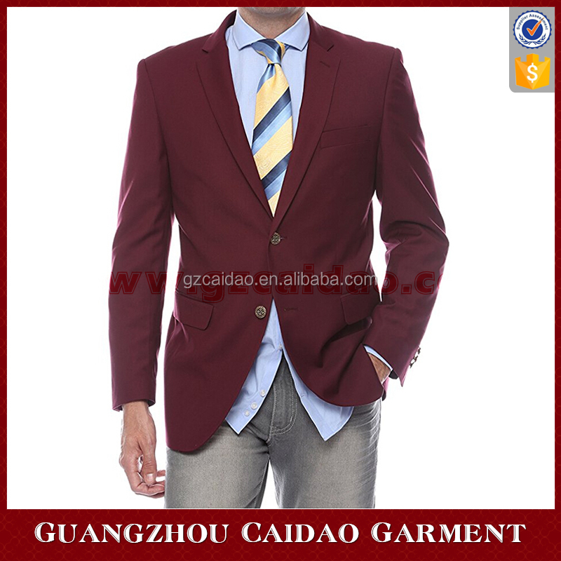 Men's Premium Solid 2 Button Sport Coat Blazers