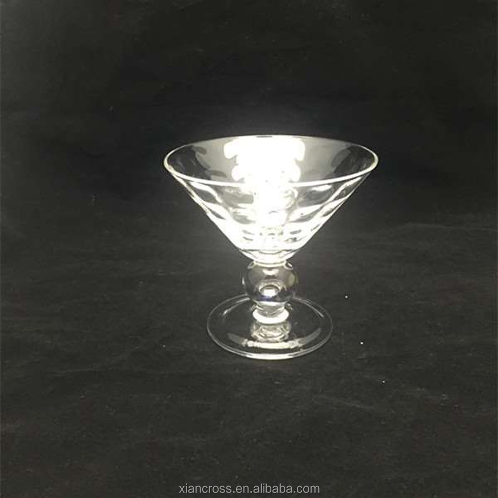 China Fashion Factory High Quality Cheaper Clear Glass Martini