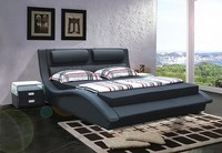 JR614 modern king /queen size black and white leather bed new classic soft bedroom home furniture showroom bed
