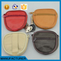 China factory waist purse genuine leather change purse coin purse