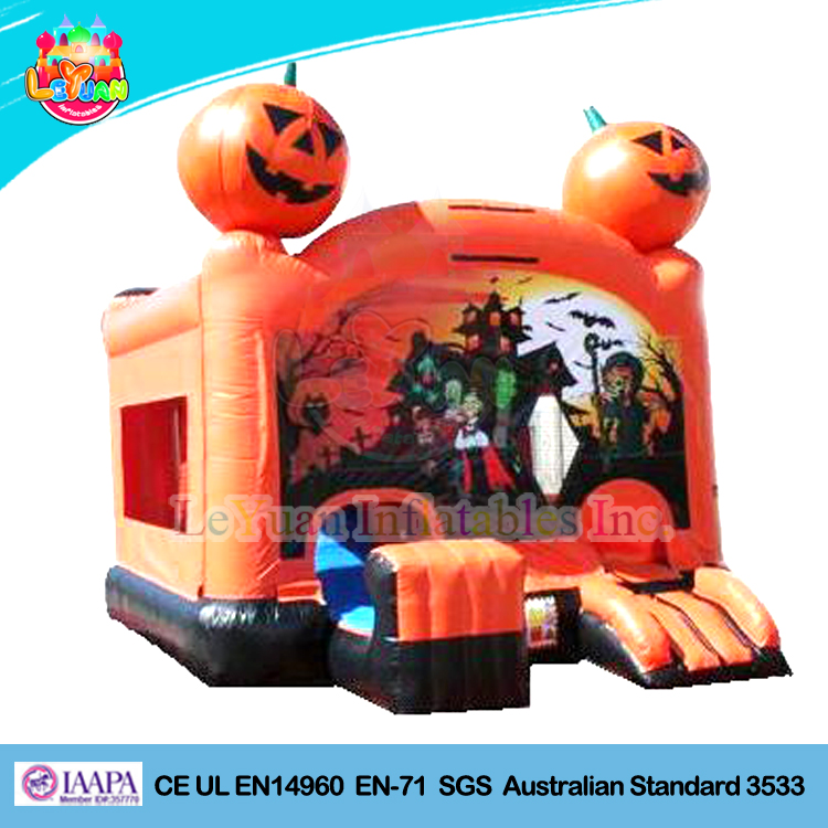 Inflatable halloween haunted bounce house for sale