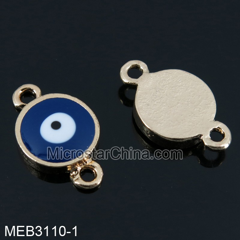 2015 Hot sale strange circle design mix color turkey blue eye jewelry