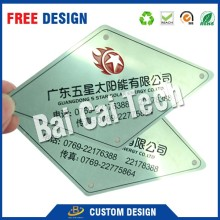 Factory price top quality custom logo adhesive metal car sticker, metal nameplate