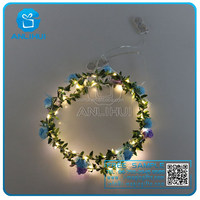 led light garland christmas wreath decorations lights for wearing in head