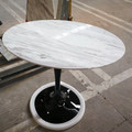 Greece Volakas white marble round tables