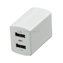 2 ports US AC Multi Travel USB Wall Charger for iPhone Samsung Galaxy Cell Phones Adapter