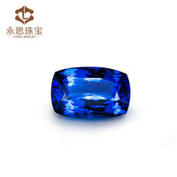 High Quality 14.39ct Cushion Cut 12x18mm Natural Tanzanite Loose Stone , Blue Natural Tanzanite Wholesale On Line