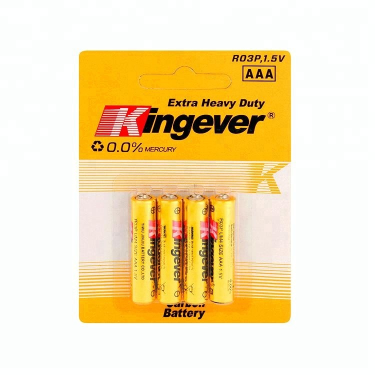 Kingever 1.5v aaa r03 um-4 dry battery