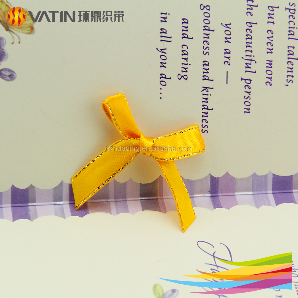 Wholesale Custom High-grade Cake Packing Yellow Stain Ribbon Bow