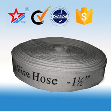 Flexible 25mm-300mm synthetic rubber or PVC lined canvas fire hose,fire coupling in Sanxing Manufacturer
