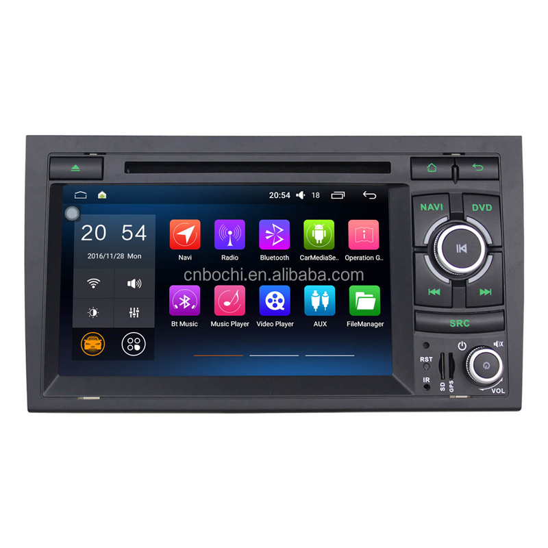 7 Inch capacitive touch screen car Radio GPS Navigation for AUDI A4 2002-2007