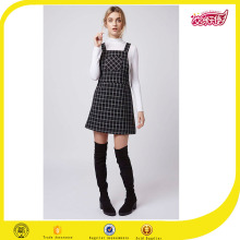 2016 High school uniform sexy girl check plaid pinafore school party dress fancy dress for girls