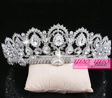 wholesale fashion pageant crystal adult crowns and tiaras