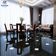 600x600 stock Bangladesh price discontinued vitrified super black full body nano glossy polished porcelain interior floor tiles
