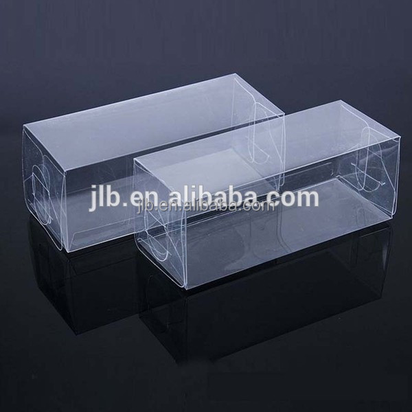 Custom packaging thin rectangular clear small plastic box