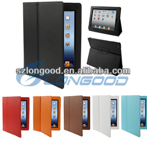 Leather Smart Stand Sleep Wake Function Flip Case For iPad 2 3 4