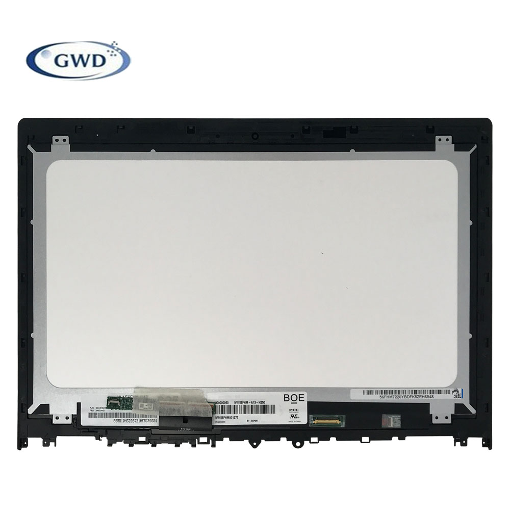 "Original 15.6"" 5D10K28140 for Lenovo Edge 2 15 FHD 1920*1080 LCD LED Touch Screen assembly NV156FHM-N42 Laptop LCD Screen"