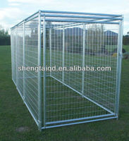 heavy duty round tube large dog cage pet crate