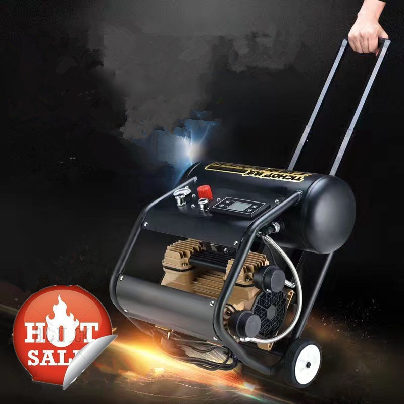 1500W Portable Piston Type Silent Oil Free Air Compressor For Painting