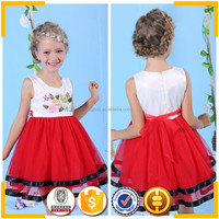 Red Summer dresses 2015 new arrival baby girl party dresses in bangalore