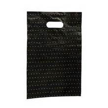 Punched Out Handle LDPE Bag Biodegradable OEM Printed Plastic Shopping Bag