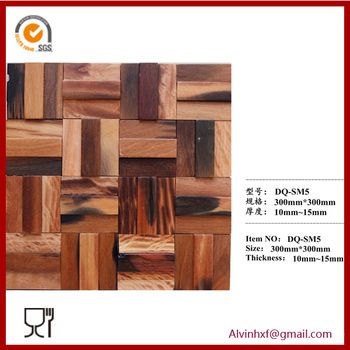 Foshan Wall Decorative Old Boat Wood Tile Mosaic