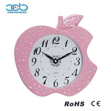 Diamond Decorative Apple Shape Wall Clock