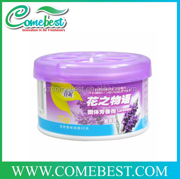 factory produced hotel room round plastic can gel air freshener
