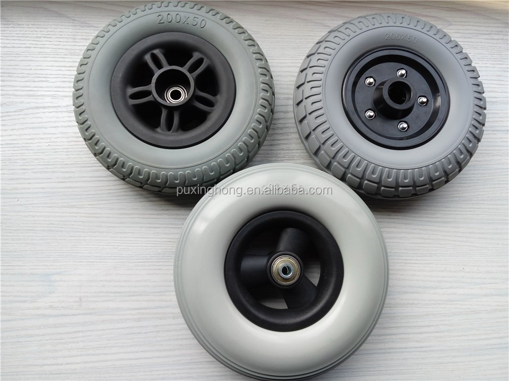 200mm PU wheelchair wheel
