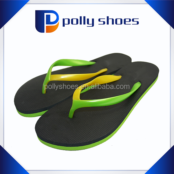 Double color slipper fancy strap EVA form thick sole shoes for men
