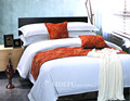Hotel 100 Cotton Percale Queen Stripe Duvet Cover