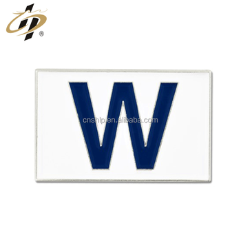China custom zinc alloy enamel metal letter lapel pins