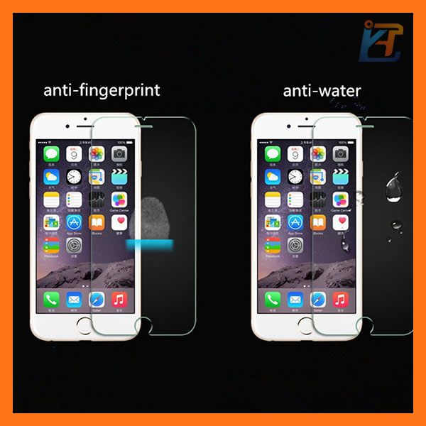 Anti-fingerprint mobile phone tempered glass screen guard with new design