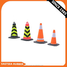 Black Base 500MM or 700MM Height EVA Flat Traffic Cone / Safety Cone