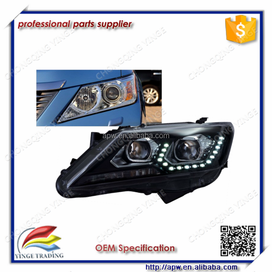 Wholesale U style headlight with Projector lens For 2012-2014 Camry Classical