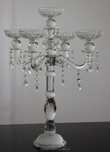 Jingyage customized wedding candelabra with hanging crystals