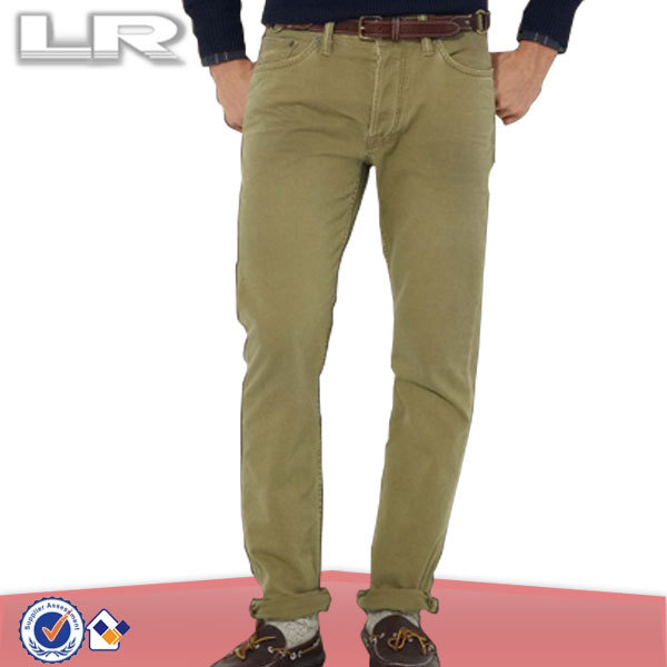 New Design Fashion Cotton Slim 5-Pocket Stretch Casual Twill Chino Pant for Mens