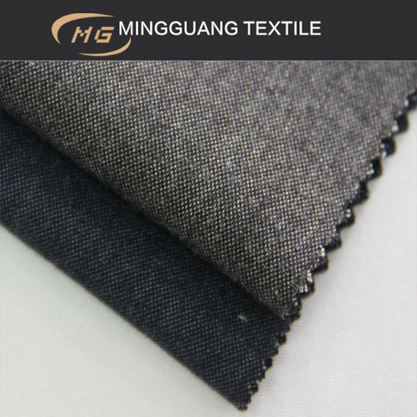 two tone weave polyester viscose blend fabric textile agent in china