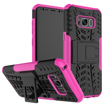 Rugged anti-skid dazzle armor phone case for Galaxy S8 G9500 with kickstand