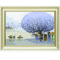Hot sale scenery abstract oil paint pictures by numbers